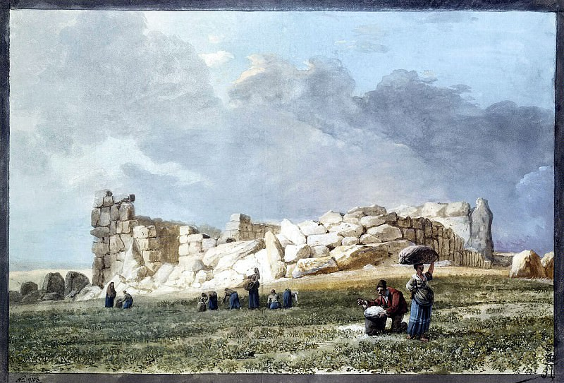 Uele, Jean-Pierre-Laurent. Ruins of Phoenician Temple in Casal Kachcha. Hermitage ~ part 12