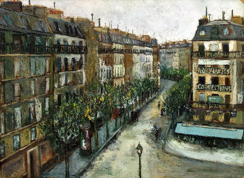 Utrillo, Maurice. Custine Street in Montmartre. Hermitage ~ part 12