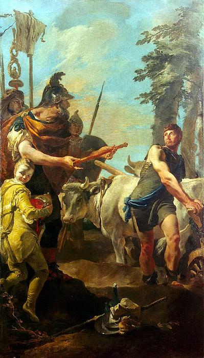 Tiepolo, Giovanni Battista. Calling of Cincinnatus dictator to power. Hermitage ~ part 12