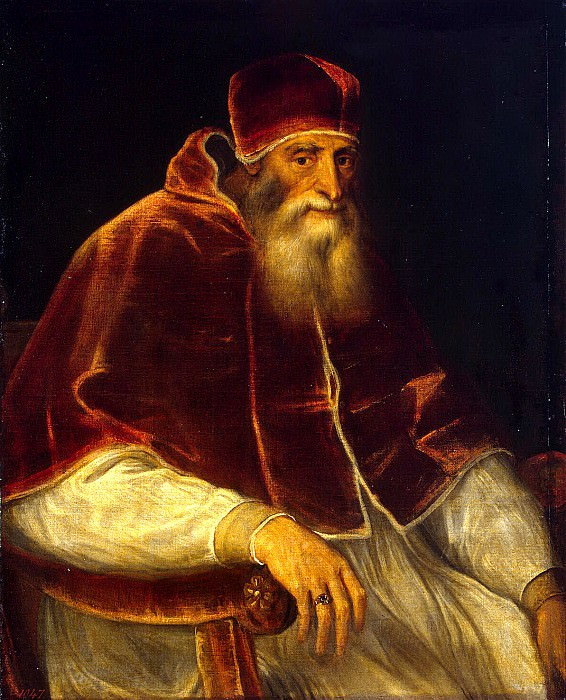 Titian and workshop. Portrait of Pope Paul III. Hermitage ~ part 12