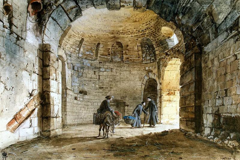 Uele, Jean-Pierre-Laurent. Antique baths in Carmelite Monastery al Indiritstso in Catania. Hermitage ~ part 12