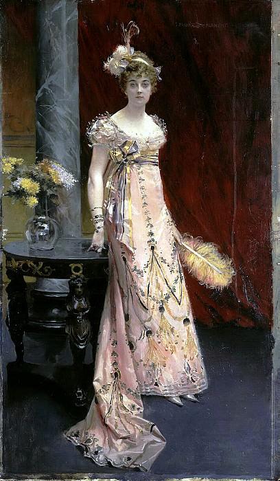 Flameng, Francois. Portrait of the Duchess of Dora Evgenyavna Leichtenberg. Hermitage ~ part 12