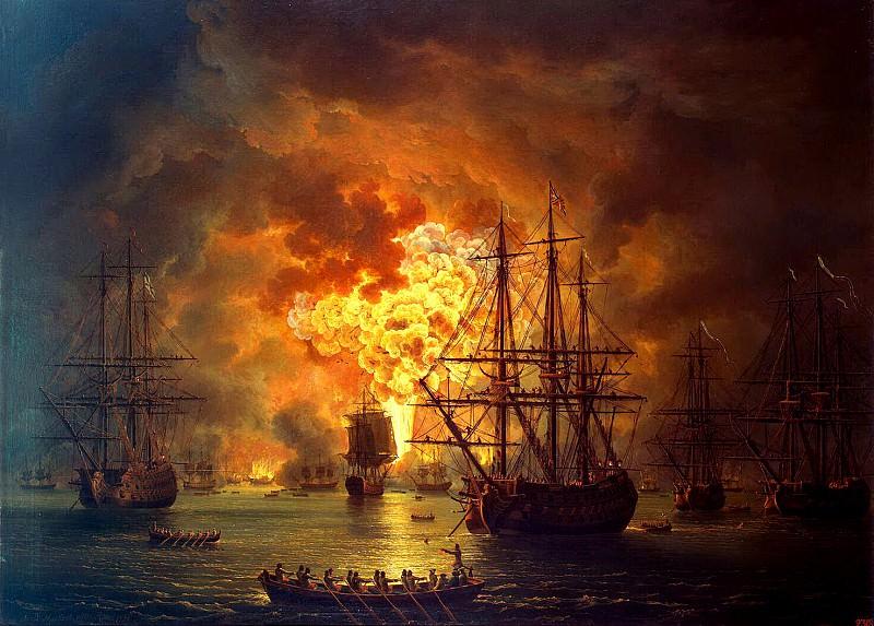 Хаккерт, Якоб Филипп - Гибель турецкого флота в Чесменском бою. Эрмитаж ~ часть 12