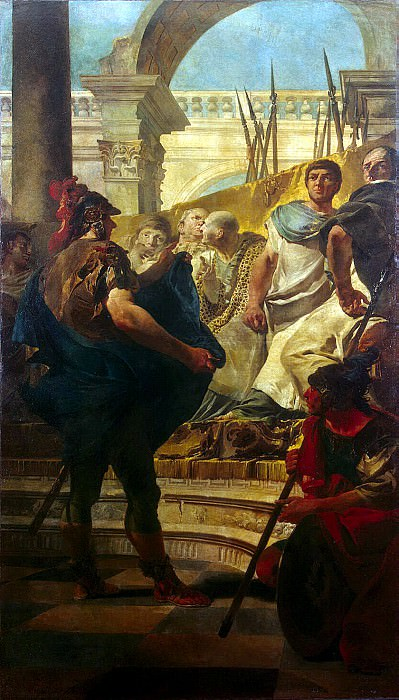 Tiepolo, Giovanni Battista. Quintus Fabius Maximus in the Senate of Carthage. part 12 Hermitage