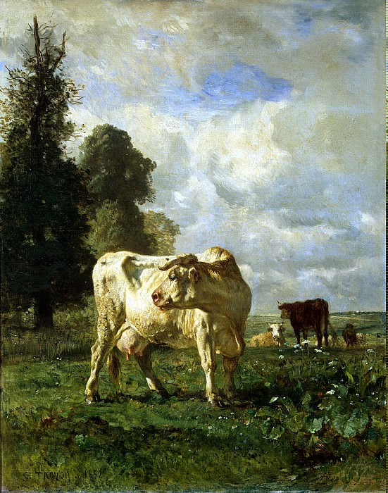 Troyon, Constant. Cows in the field. Hermitage ~ part 12
