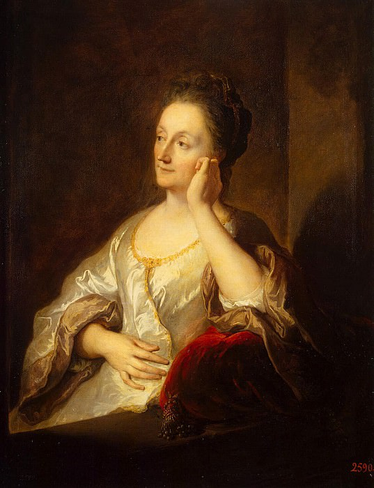 Труа, Жан-Франсуа де - Портрет жены художника Жанны де Труа. Эрмитаж ~ часть 12