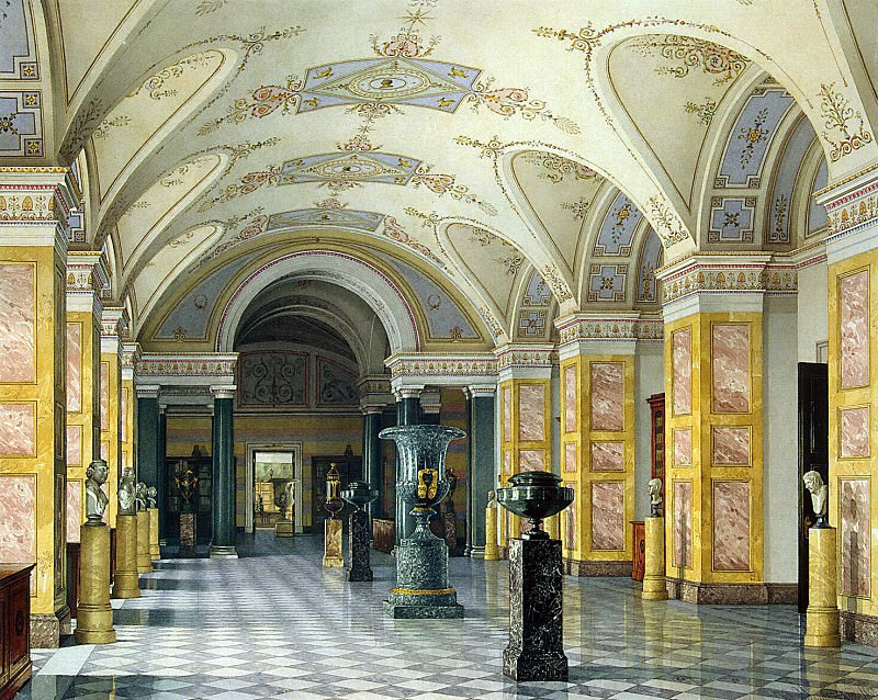 Ukhtomsky, Konstantin Andreevich. Types of rooms of the New Hermitage. Room IV library. Hermitage ~ part 12