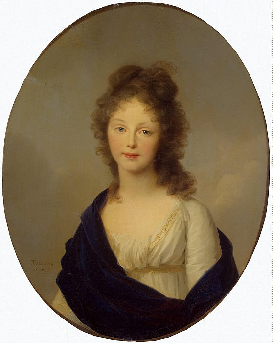 Tishbeyn, Johann Friedrich August. Portrait of Queen Louise of Prussia. Hermitage ~ part 12