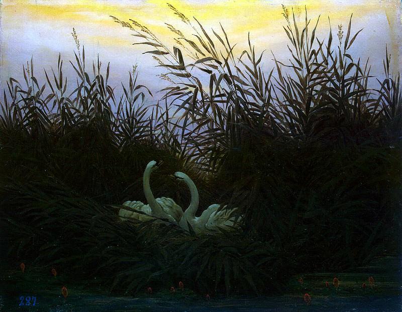 Friedrich, Caspar David. Swans in the reeds. Hermitage ~ part 12