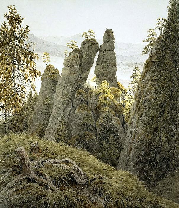 Friedrich, Caspar David. Rock Gate in Neyratene. Hermitage ~ part 12