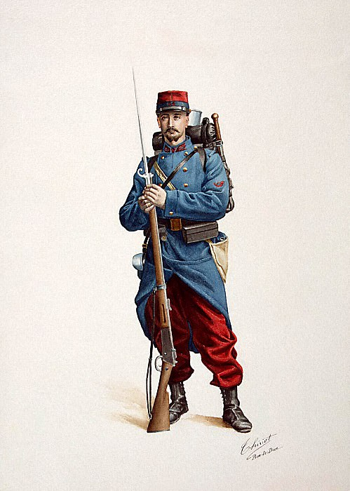 Tirio, Henri. French soldier with a gun. Hermitage ~ part 12