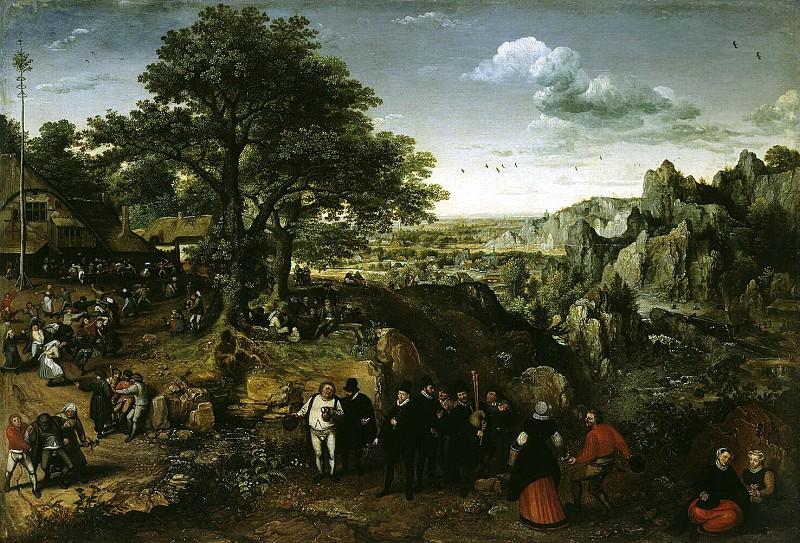 Falkenborh, Lucas van. Landscape with Village Festival. Hermitage ~ part 12