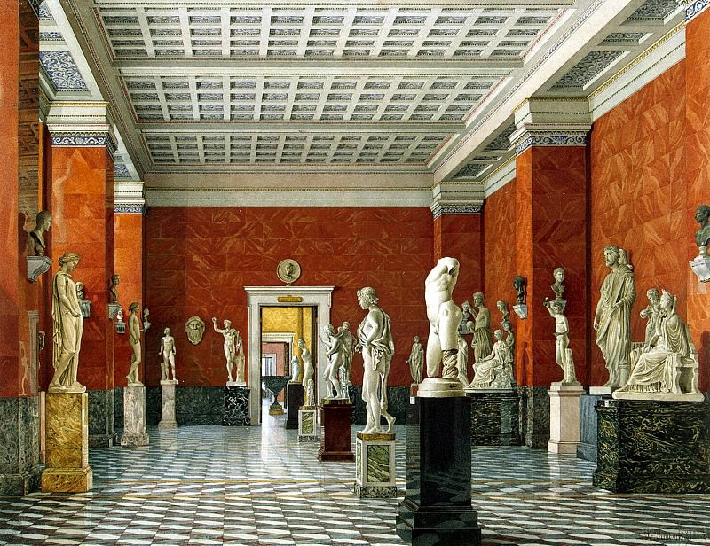 Ukhtomsky, Konstantin Andreevich. Types of rooms of the New Hermitage. Hall Greek sculpture. Hermitage ~ part 12