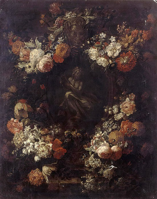 Ferbryuggen, Gaspar Peter Younger. Apollo, playing on a garland of flowers cithara. Hermitage ~ part 12
