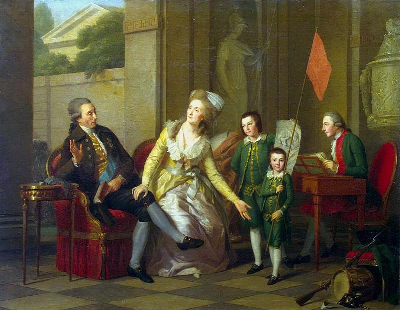 Tishbeyn, Johann Friedrich August. Portrait of the Saltykov Family. Hermitage ~ part 12