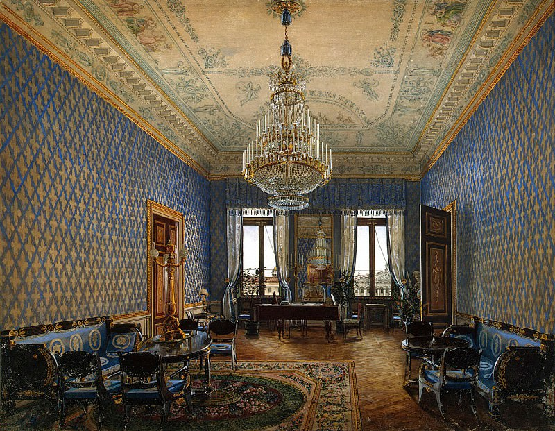 Ukhtomsky, Konstantin Andreevich. Types of rooms in the Winter Palace. Seating of Grand Duchess Maria Nikolaevna. Hermitage ~ part 12