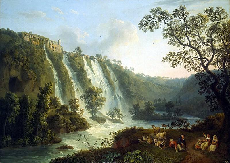 Hakkert, Jacob Philip. Villa of Maecenas and the Waterfalls at Tivoli. Hermitage ~ part 12