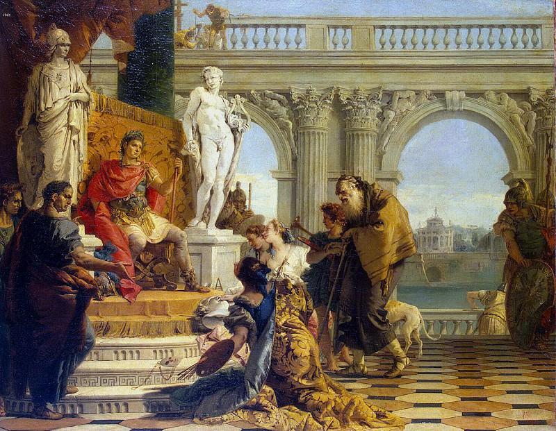 Тьеполо, Джованни Баттиста - Меценат представляет императору Августу свободные искусства. Эрмитаж ~ часть 12