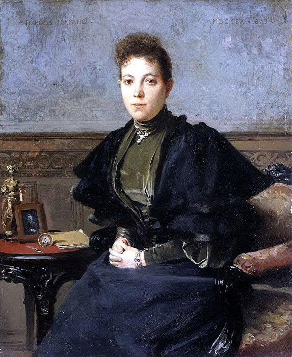 Flameng, Francois. Portrait of Vera Andreyevna Kharitonenko. Hermitage ~ part 12