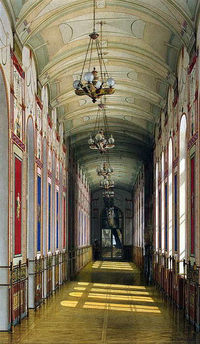 Ukhtomsky, Konstantin Andreevich. Types of rooms in the Winter Palace. Pompeian gallery. Hermitage ~ part 12