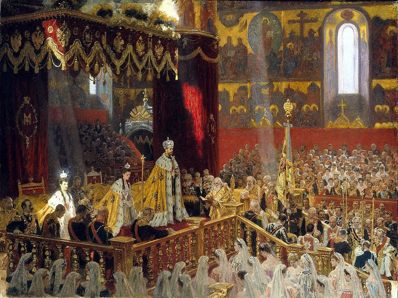 Tux, Laurits Regner. Coronation of Nicholas II and Alexandra Feodorovna. Hermitage ~ part 12