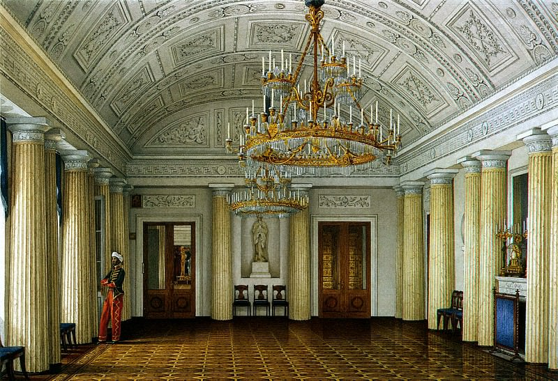 Ukhtomsky, Konstantin Andreevich. Types of rooms in the Winter Palace. Arapsky hall or large dining room. Hermitage ~ part 12
