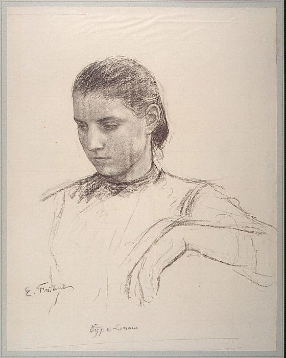 Friant, E.. Lorraine girl. part 12 Hermitage