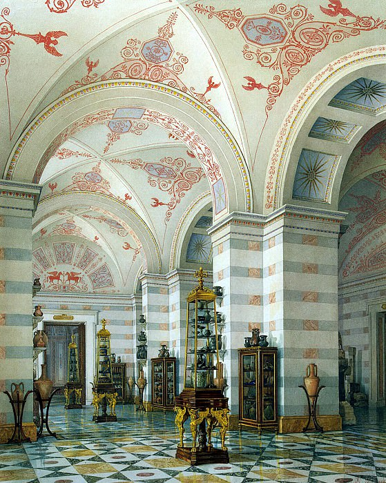 Ukhtomsky, Konstantin Andreevich. Types of rooms of the New Hermitage. Hall of Antiquities Cimmerian Bosporus (2). Hermitage ~ part 12