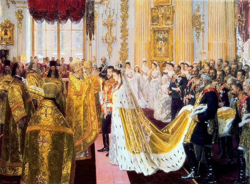 Туксен, Лауритс Регнер - Бракосочетание Николая II и великой княгини Александры Федоровны. Эрмитаж ~ часть 12