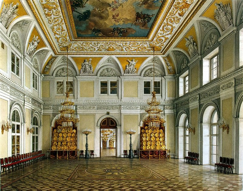 Ukhtomsky, Konstantin Andreevich. Types of rooms in the Winter Palace. Antechamber. Hermitage ~ part 12
