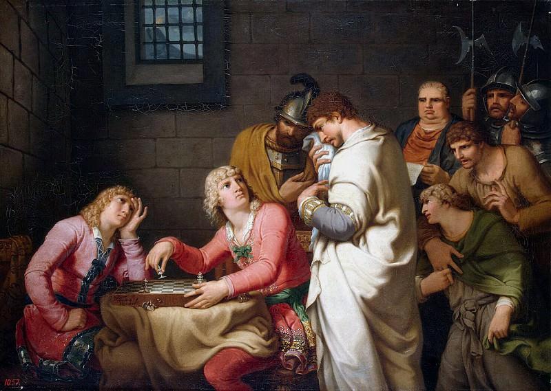 Tishbeyn, Johann Heinrich Wilhelm. Conradin Swabia and Frederick of Baden awaiting sentencing. Hermitage ~ part 12