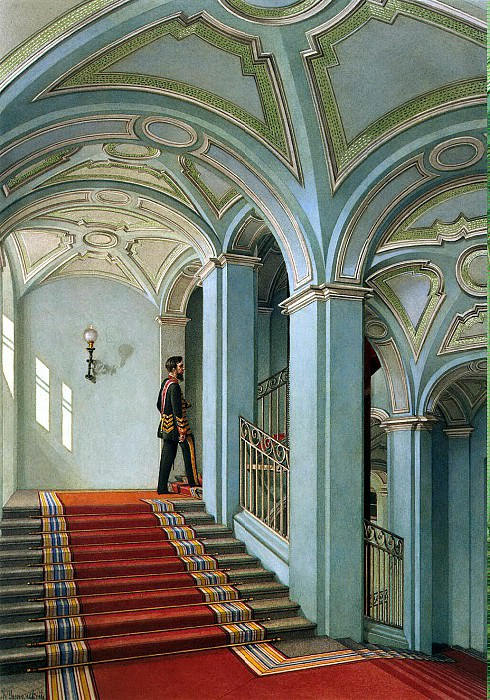 Ukhtomsky, Konstantin Andreevich. Types of rooms in the Winter Palace. Saltykovskaya ladder. Hermitage ~ part 12