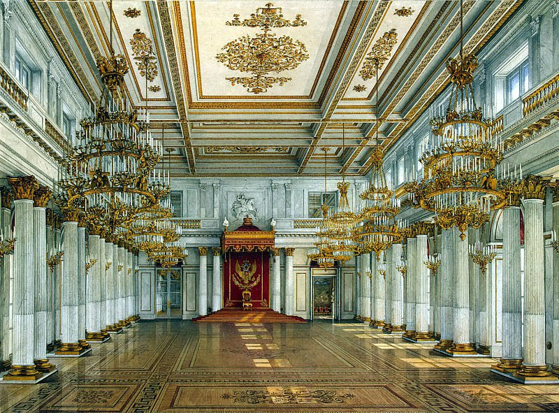 Ukhtomsky, Konstantin Andreevich. Types of rooms in the Winter Palace. St Georges Hall. Hermitage ~ part 12