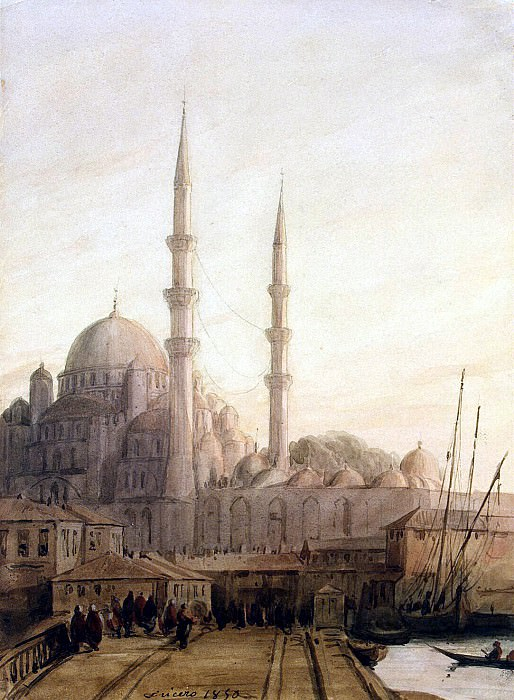 Frisero, Joseph. Type of Mosque Yeni-Jami in Constantinople. Hermitage ~ part 12
