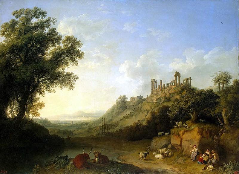 Хаккерт, Якоб Филипп - Пейзаж с развалинами храмов в Сицилии. Эрмитаж ~ часть 12