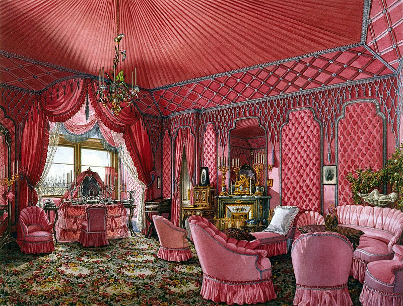 Ukhtomsky, Konstantin Andreevich. Types of rooms in the Winter Palace. Fourth spare half. Dressing. Hermitage ~ part 12
