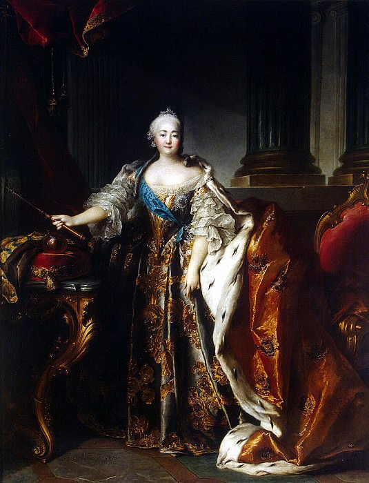 Tokko, Louis. Portrait of Empress Elizabeth. Hermitage ~ part 12