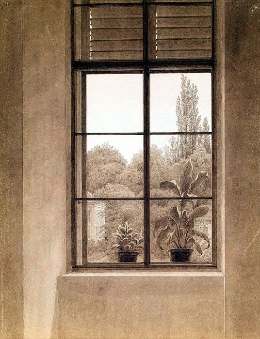 Friedrich, Caspar David. Window overlooking the park. Hermitage ~ part 12