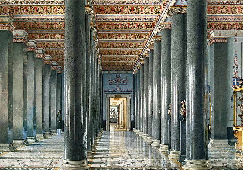 Ukhtomsky, Konstantin Andreevich. Types of rooms of the New Hermitage. Hall of Greco-Etruscan vases. Hermitage ~ part 12