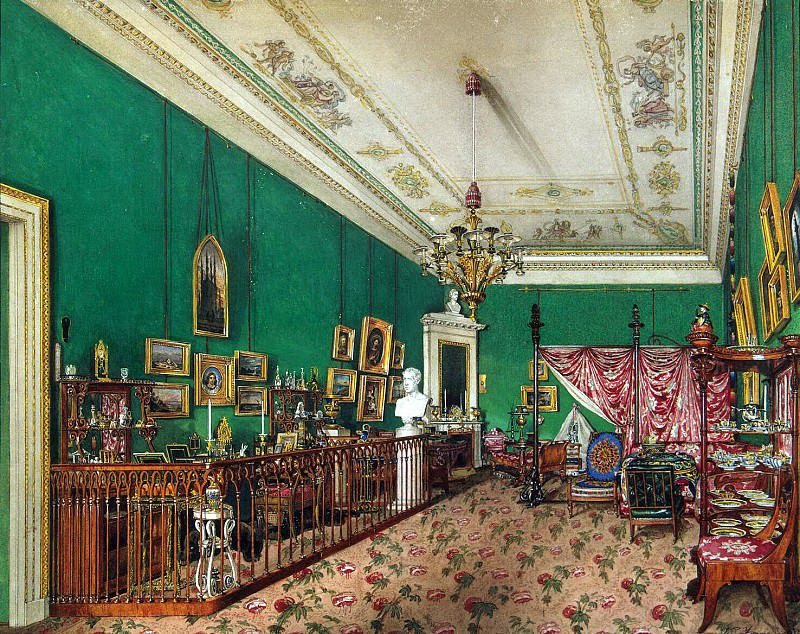 Ukhtomsky, Konstantin Andreevich. Types of rooms in the Winter Palace. Bedroom of Grand Duchess Maria Nikolaevna. Hermitage ~ part 12