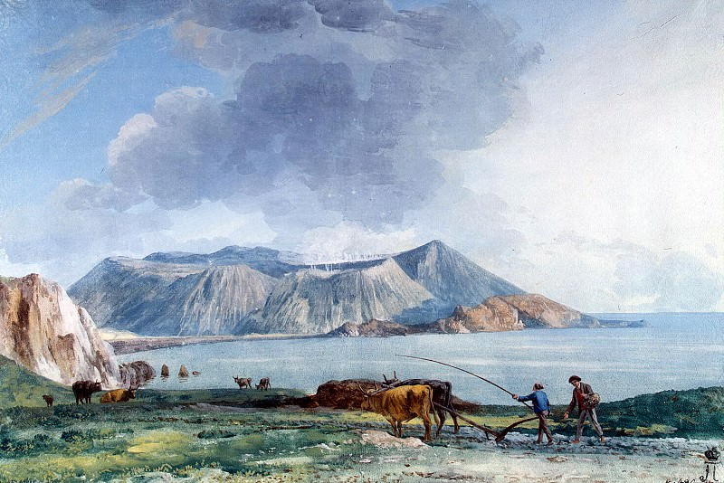 Uele, Jean-Pierre-Laurent. View of Vulcano from the island of Lipari. Hermitage ~ part 12