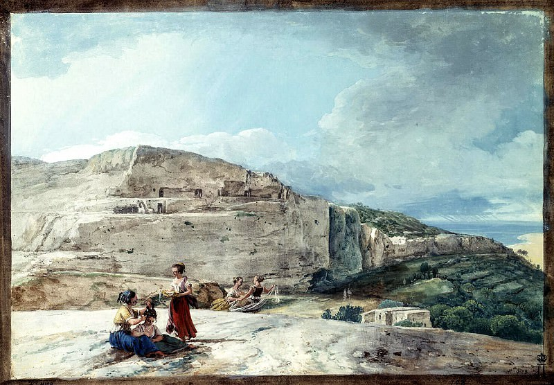 Uele, Jean-Pierre-Laurent. Kind of a cliff and ancient dwellings in the north of Malta. Hermitage ~ part 12