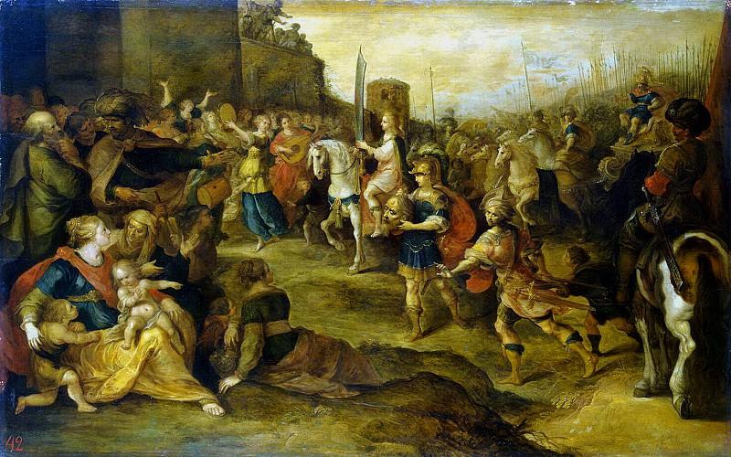 Franken, Frans II. Entry of David in Jerusalem. Hermitage ~ part 12
