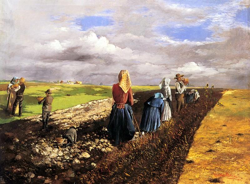 Pentelei Molnar Janos The Potato Harvest. Hungarian artists