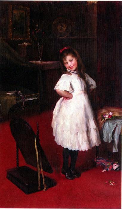 Arthur Lajos Halmi The Party Dress. Hungarian artists