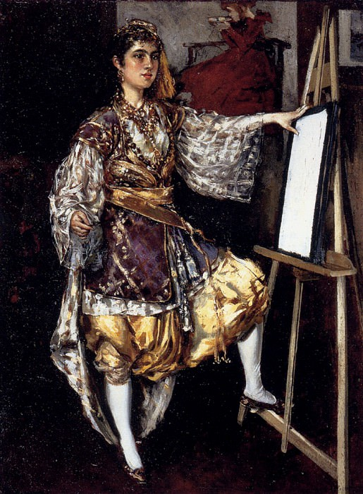 Diaque Federico Corchon y Jeune Artiste A Son Chevalet. Hungarian artists