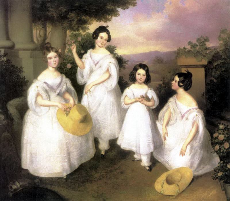 BROCKY Karoly The Daughters Of Istvan Medgyasszay. Hungarian artists