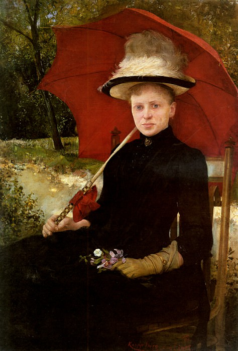Knopp Imre The Red Parasol. Hungarian artists
