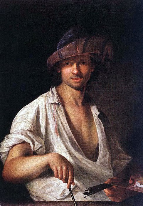 MANYOKI Adam Self Portrait. Hungarian artists
