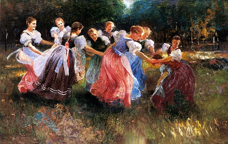 Ujvary Ignac The Rite Of Spring. Hungarian artists